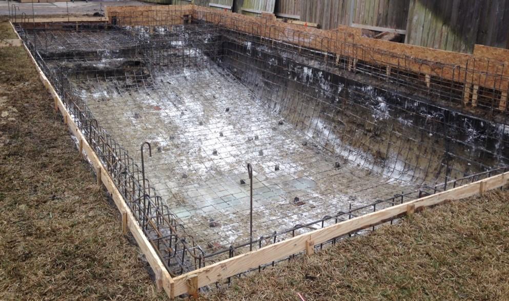 Building process texas aquatics - Fibreglass swimming pool bond beam ...